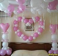 Сердце из шаров. Оформление комнаты на выписку с роддома
