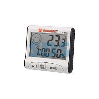 Термогигрометр комнатный с часами и функцией будильника REXANT