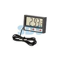 Термометр электронный комнатно-уличный с часами REXANT