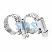 Хомут-стяжка кабельная стальная червячная REXANT 10-16 мм,  упаковка 50 шт.