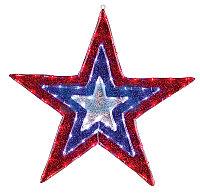"""Фигура """"Звезда"""" бархатная, размеры 91 см (129 светодиод красный+голубой+белый цвета)"""
