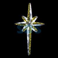 """Фигура """"Звезда 8-ми конечная"""", LED подсветка высота 120см, бело-золотая NEON-NIGHT"""