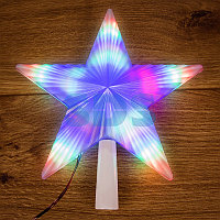 "Фигура светодиодная ""Звезда"" на елку цвет: RGB, 31 LED, 22 см"
