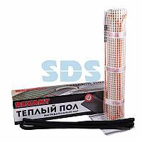 Теплый пол (нагревательный мат) REXANT Extra, площадь 7,0 м2 (0,5 х 14,0 метров), 1120Вт, (двух жильный)