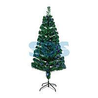 """Новогодняя Ель """"Снежинка"""", фибро-оптика 150 см, 160 веток, без насадок"""