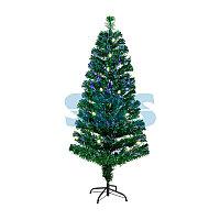 Новогодняя Ель с шишками 210 см фибро-оптика ТЕПЛЫЙ БЕЛЫЙ цвет