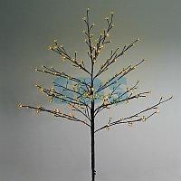 """Дерево комнатное """"Сакура"""", коричневый цвет ствола и веток, высота 1.2 метра, 80 светодиодов желтого цвета,"""