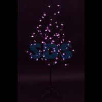"""Дерево комнатное """"Сакура"""", коричневый цвет ствола и веток, высота 1.2 метра, 80 светодиодов розового цвета,"""