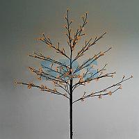 """Дерево комнатное """"Сакура"""", коричневый цвет ствола и веток, высота 1.2 метра, 80 светодиодов теплого белого"""