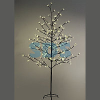 """Дерево комнатное """"Сакура"""", коричневый цвет ствола и веток, высота 1.5 метра, 120 светодиодов теплого белого"""