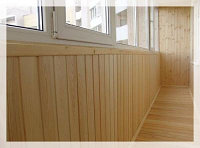 Отделка балконов вагонкой, фото 1