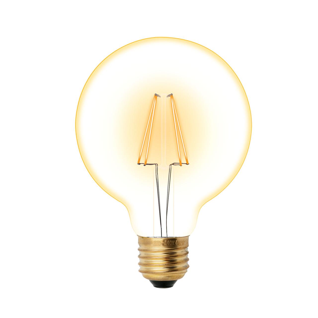 Лампа светодиодная VINTAGE LED-G95/4W/GOLDEN/E27 GLV21GO форма шар золот.колба