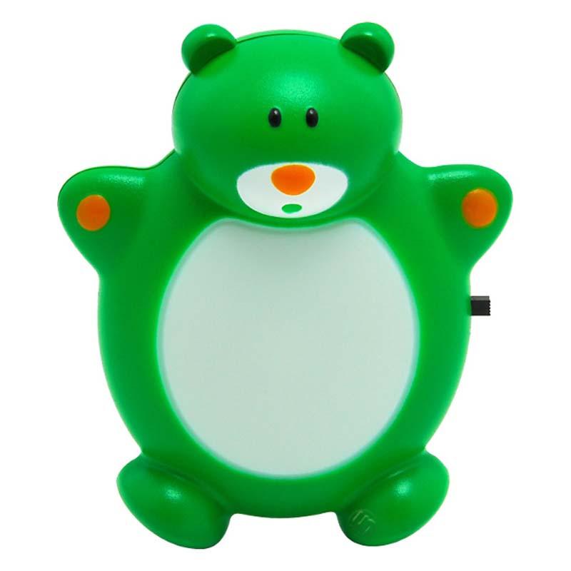Светильник-ночник CZ-1 зеленый (Зоо,Медведь,0,5Вт,220Вт,LED)