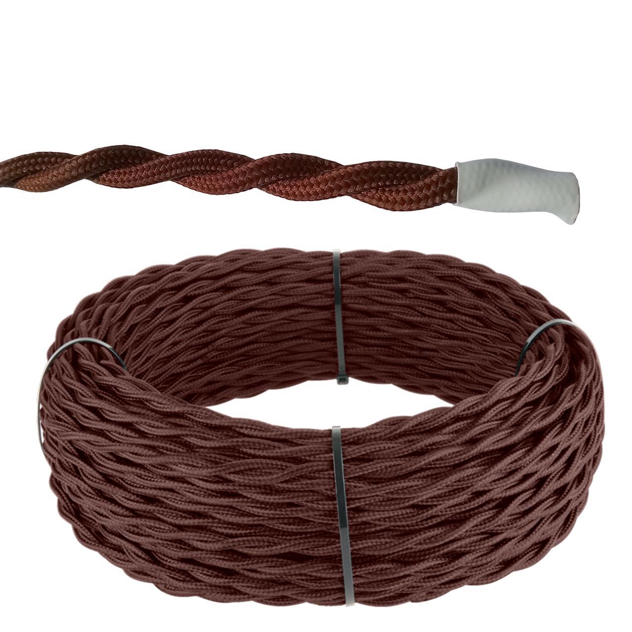 Кабель витой 2*1,5 (коричневый) Ретро