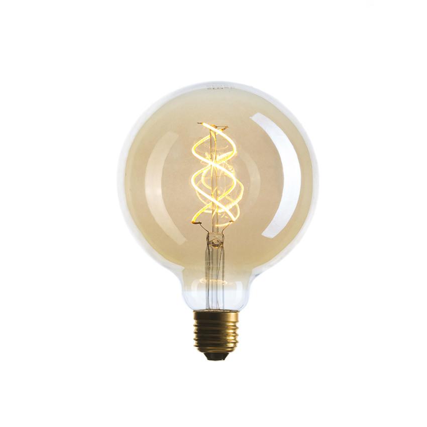 057-370 LED-Лампа G125, SW, 5W SF-8 Золотая, гибкий филамент E27 Димм