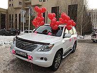 Оформление шарами и бантами машину ( 50 шаров + банты)