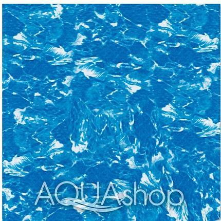 ПВХ пленка Cefil Cyprus Darker голубой мрамор. ширина 1,65 и 2,05, фото 2
