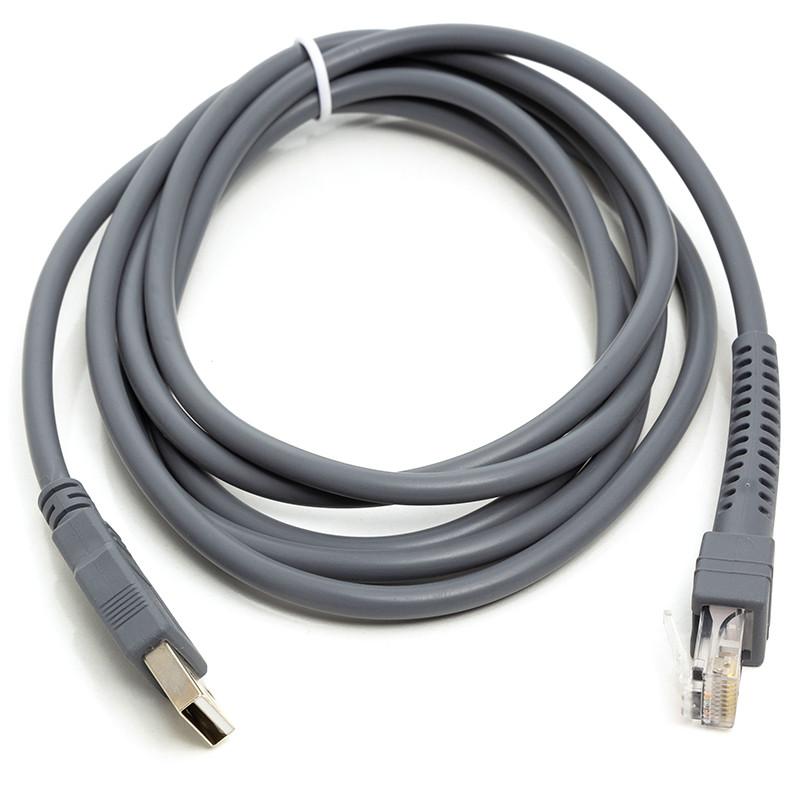 Кабель для сканеров штрих-кода PowerPlant USB (M) - RJ45 (M), 1 м
