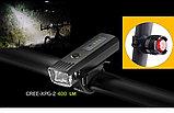 Велосипедная фара 400 LM, светодиод GREE -XPG-2 + аккум. 2000 mA/H 8,4v. (номинал 7,4v)., фото 2
