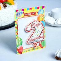 Свеча для торта цифра '2', ГИГАНТ