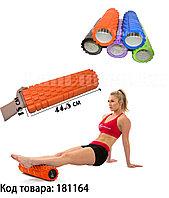 Массажный ролик для йоги и фитнеса (длина=45 см. диаметр=15 см) в ассортименте