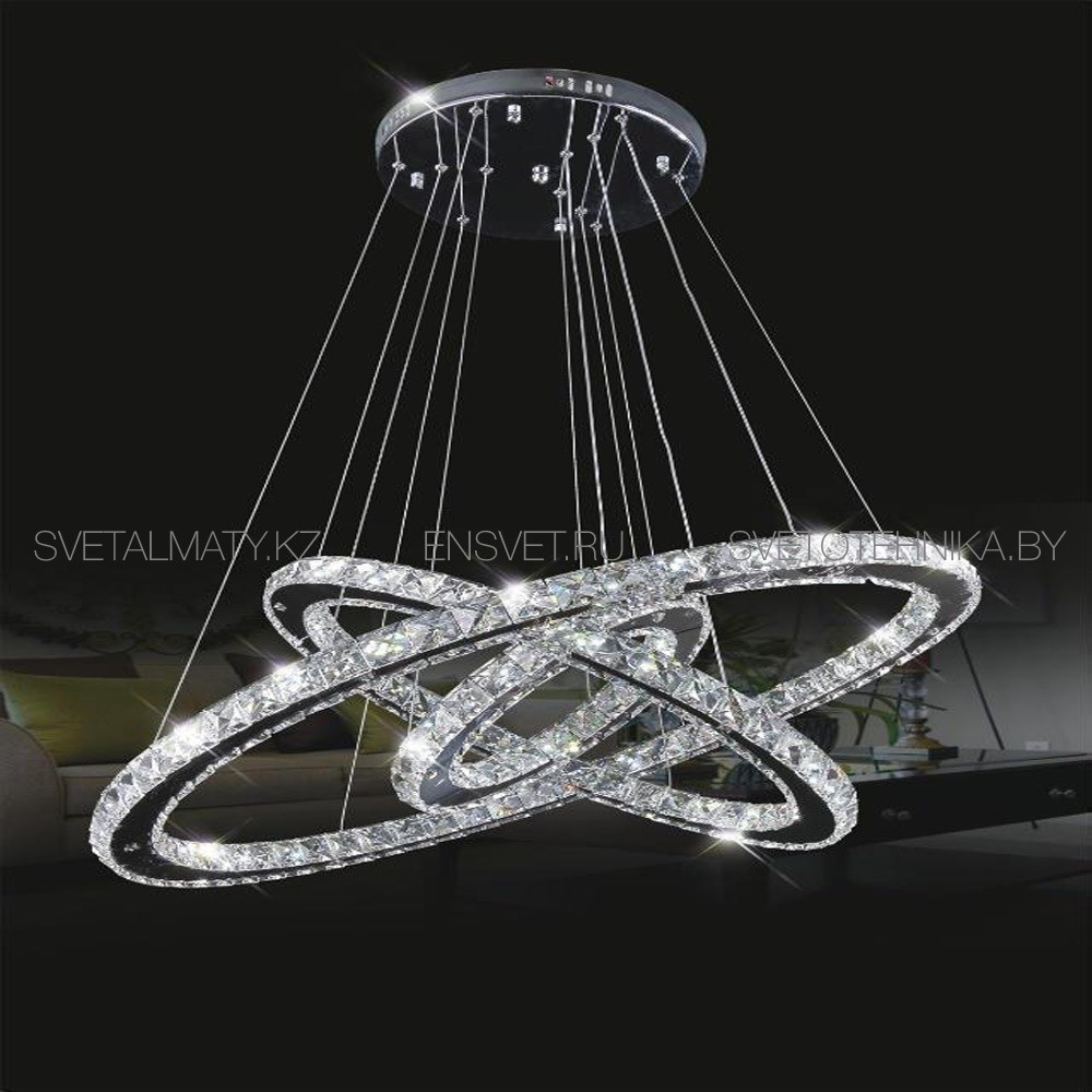 Хрустальная люстра потолочная подвесная LED 80+60+40см