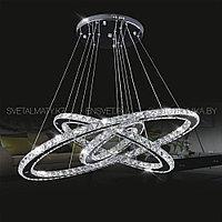 Хрустальная люстра потолочная подвесная LED 80+60+40см, фото 1