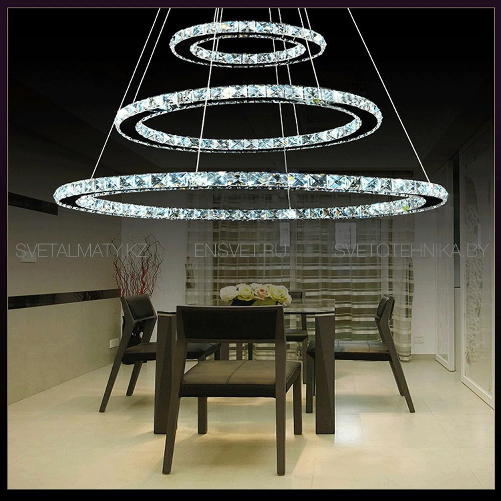 Хрустальная люстра потолочная подвесная LED 80+60+40см - фото 4