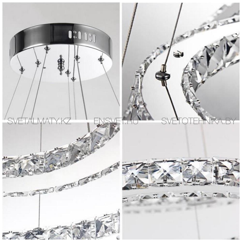 Хрустальная люстра потолочная подвесная LED 80+60+40см - фото 6