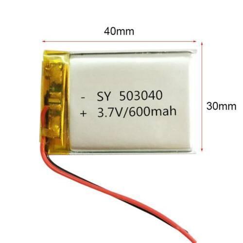 Аккумулятор литий-полимерный 3,7V 600mAh 503040