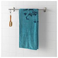 УРСКОГ Банное полотенце, лев, синий, лев/синий 70x140 см