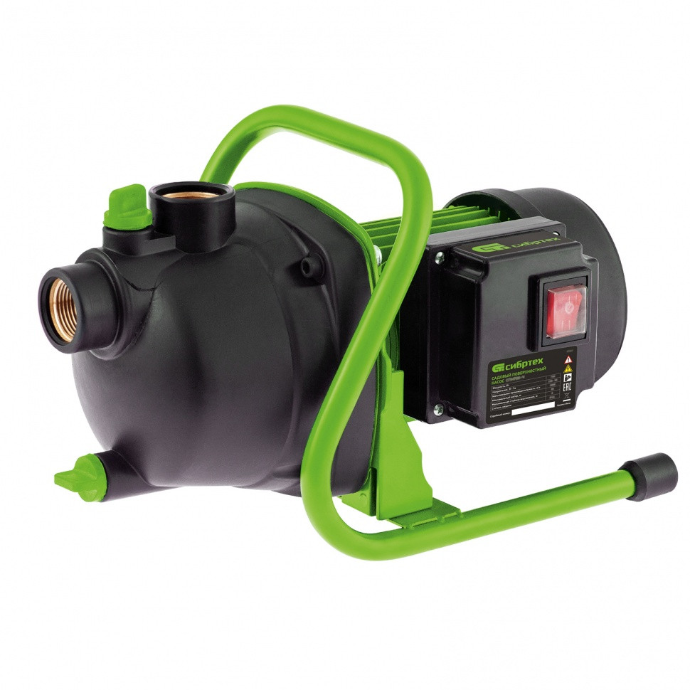 Дренажный насос для грязной воды СДН800-35, 800 Вт, напор 9 м, 13500 л/ч Сибртех
