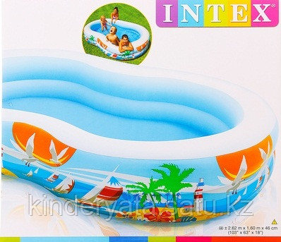 Бассейн надувной Лагуна INTEX