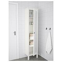 ХЕМНЭС Высокий шкаф с зеркальной дверцей, белый, белый 49x31x200 см