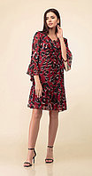 Платье Дали-3400, красые тона, 44
