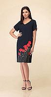 Платье Дали-5453, темно-синий, 46
