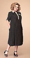 Платье Romanovich-1-1657, чёрный/беж, 60