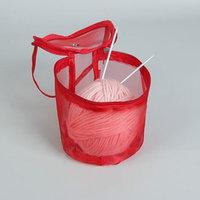 Сумка для вязания, d  13,5 см, 14 см, цвет красный