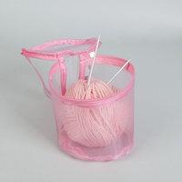 Сумка для вязания, d  13,5 см, 14 см, цвет розовый