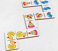 "Домино ""Детские игрушки"", 28 элементов, размер плашки: 3* 6 * 0,4 см, фото 2"
