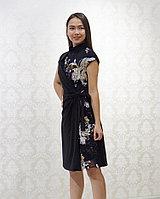 Платье вечернее черного цвета, на половине пайетками. 38