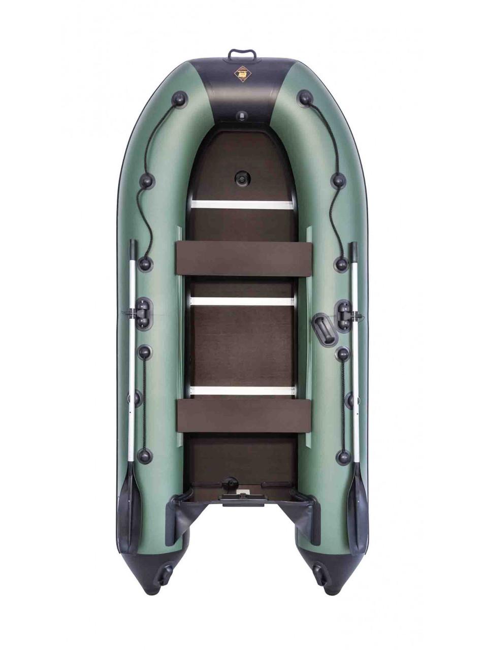 Лодка Ривьера Компакт 3200 СК касатка зеленый/черный