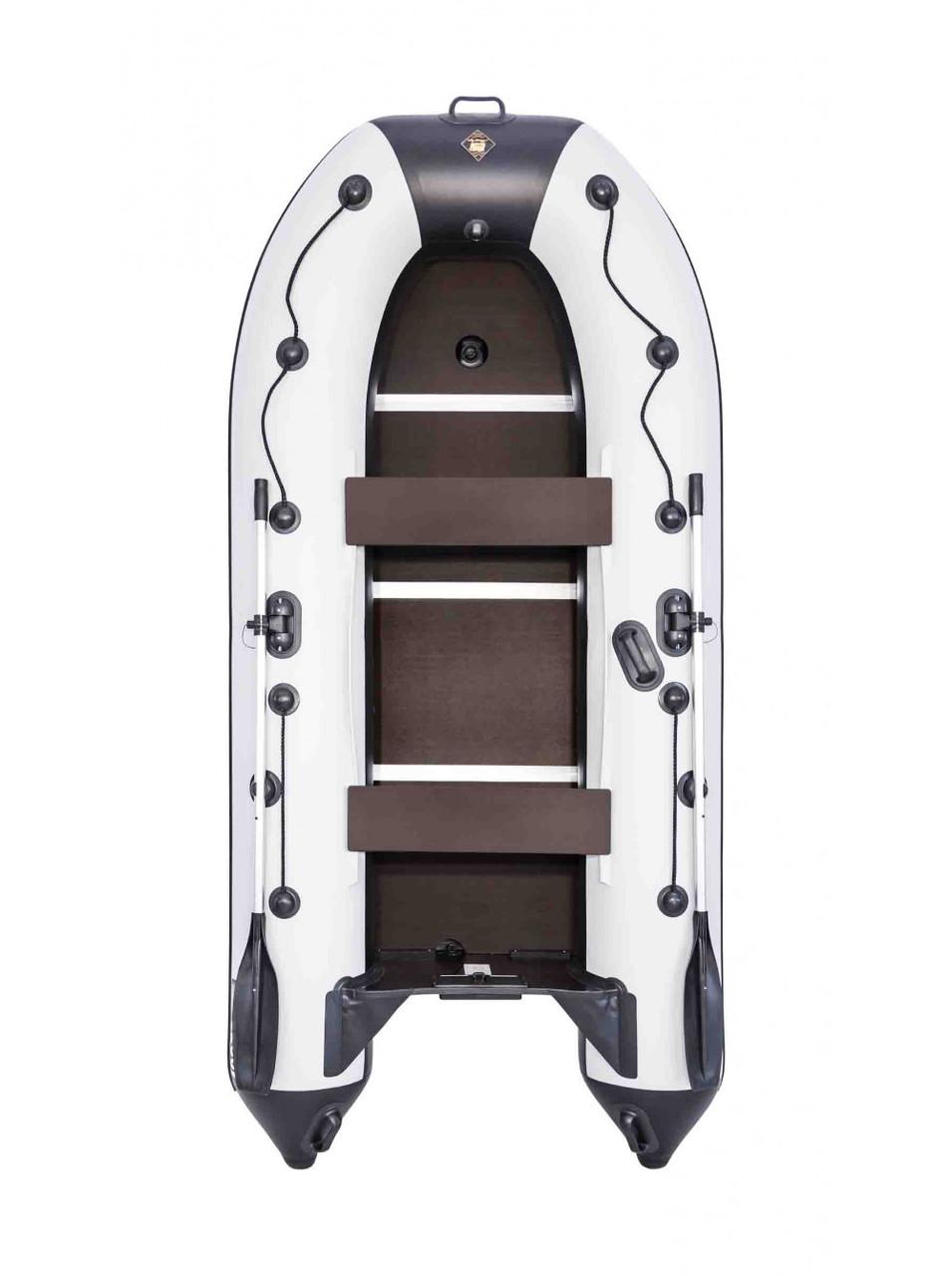 Лодка Ривьера Компакт 3200 СК касатка светло-серый/черный