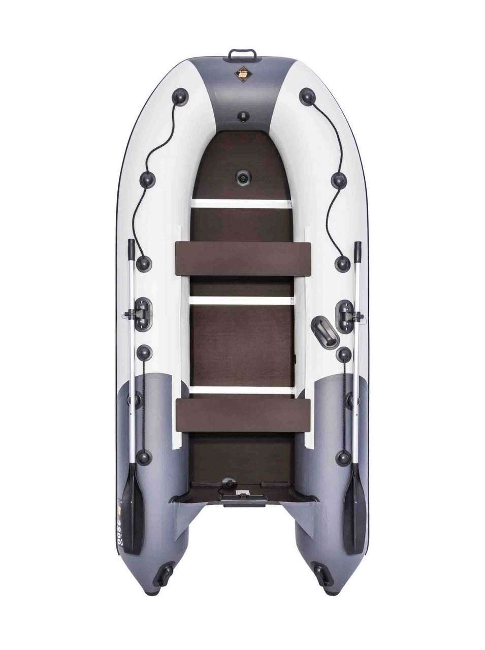 Лодка Ривьера Компакт 3200 СК комби светло-серый/графит
