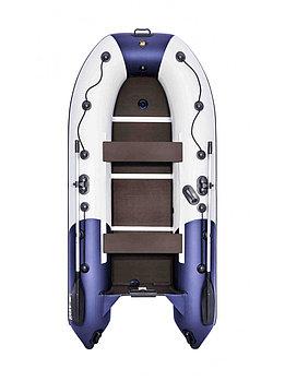 Лодка Ривьера Компакт 3200 СК комби светло-серый/синий