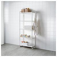 МУЛИГ Стеллаж, белый, 58x34x162 см