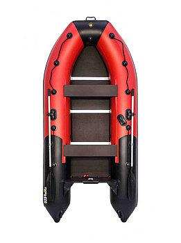 Лодка Ривьера Компакт 3400 СК  красно/черная