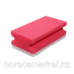 Губка для клининга Фреза 130x70x44 (8шт) красная