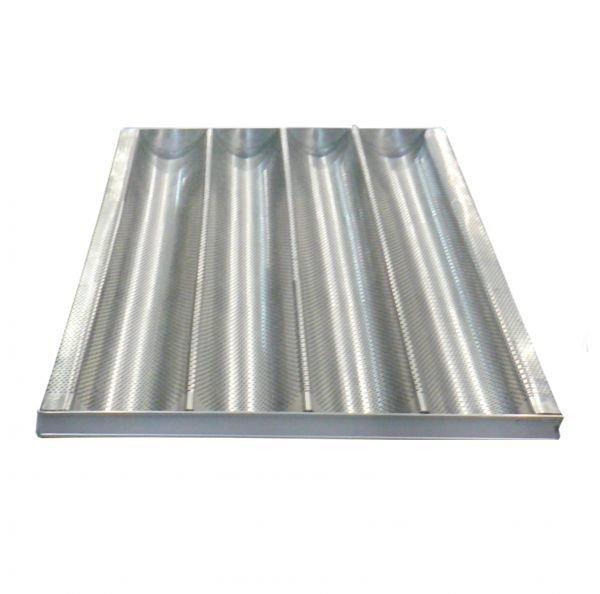 Противень волнистый 600х400х55мм, 4 волны 85мм, нерж сталь