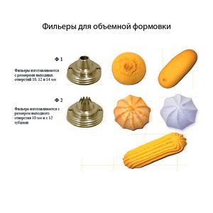 Комплект фильер 4шт. для станка Уникон для объемной формовки